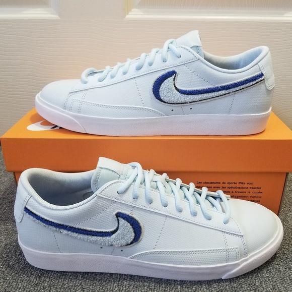 Dato Estado vecino  Nike Shoes | Nike Blazer Low 3d Light Bone White Blue Shoes | Poshmark